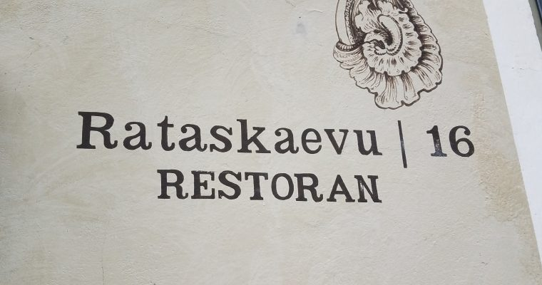 Rataskaevu 16, Tallinn's Most Popular Restaurant